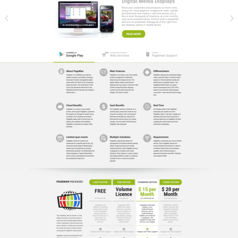 Pageman_Website Homepage